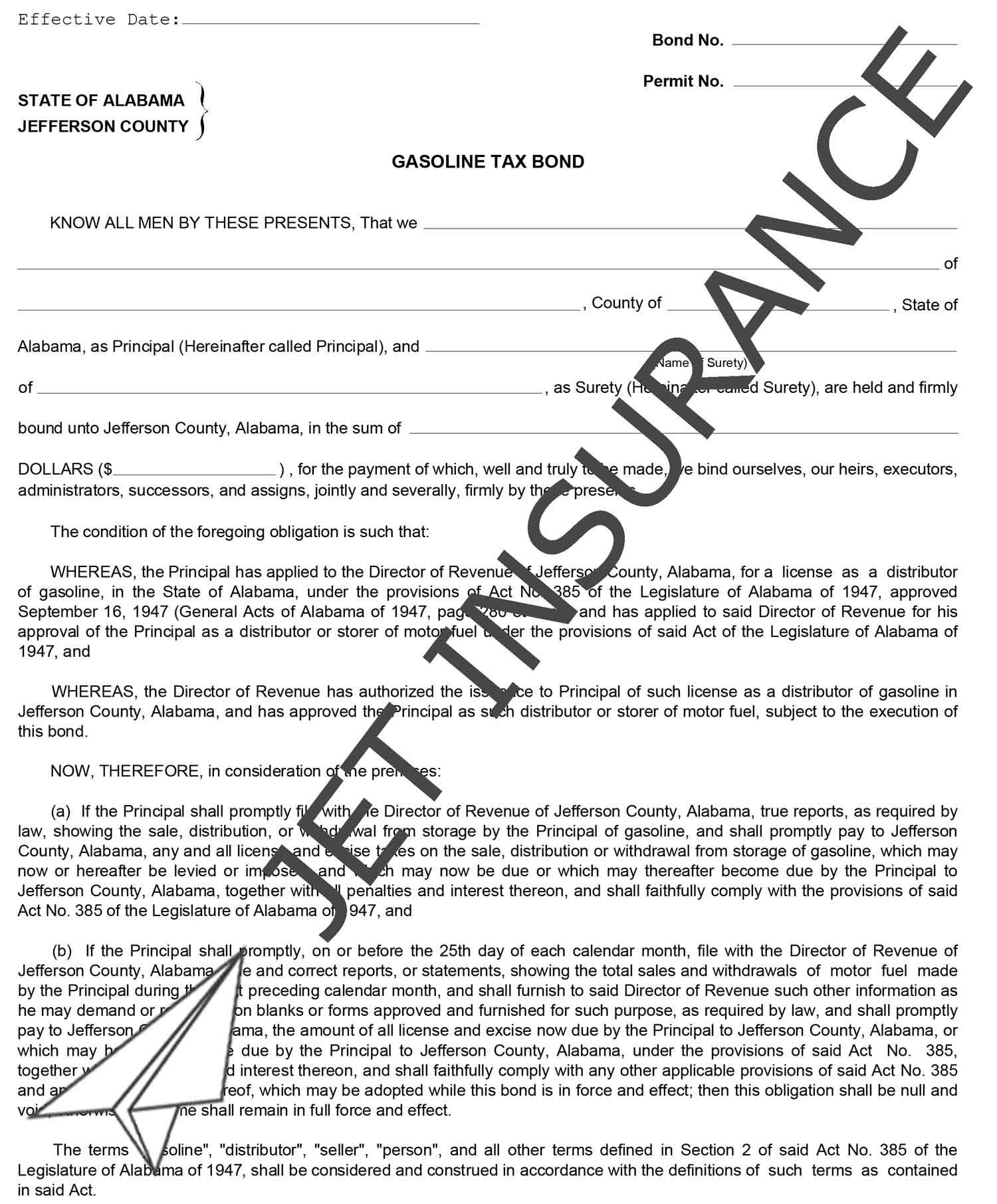 Jefferson County Alabama Gasoline Tax Bond