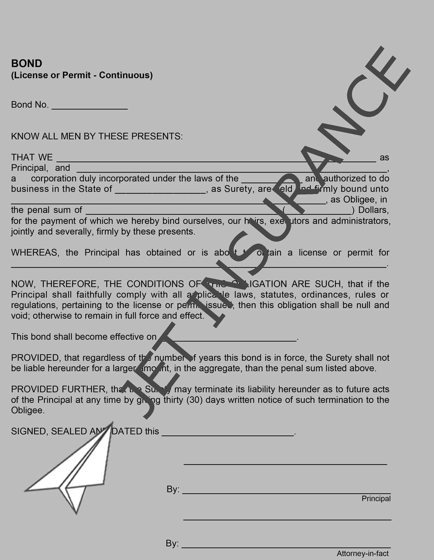 Clark County, Nevada Alarm Installer Bond Form