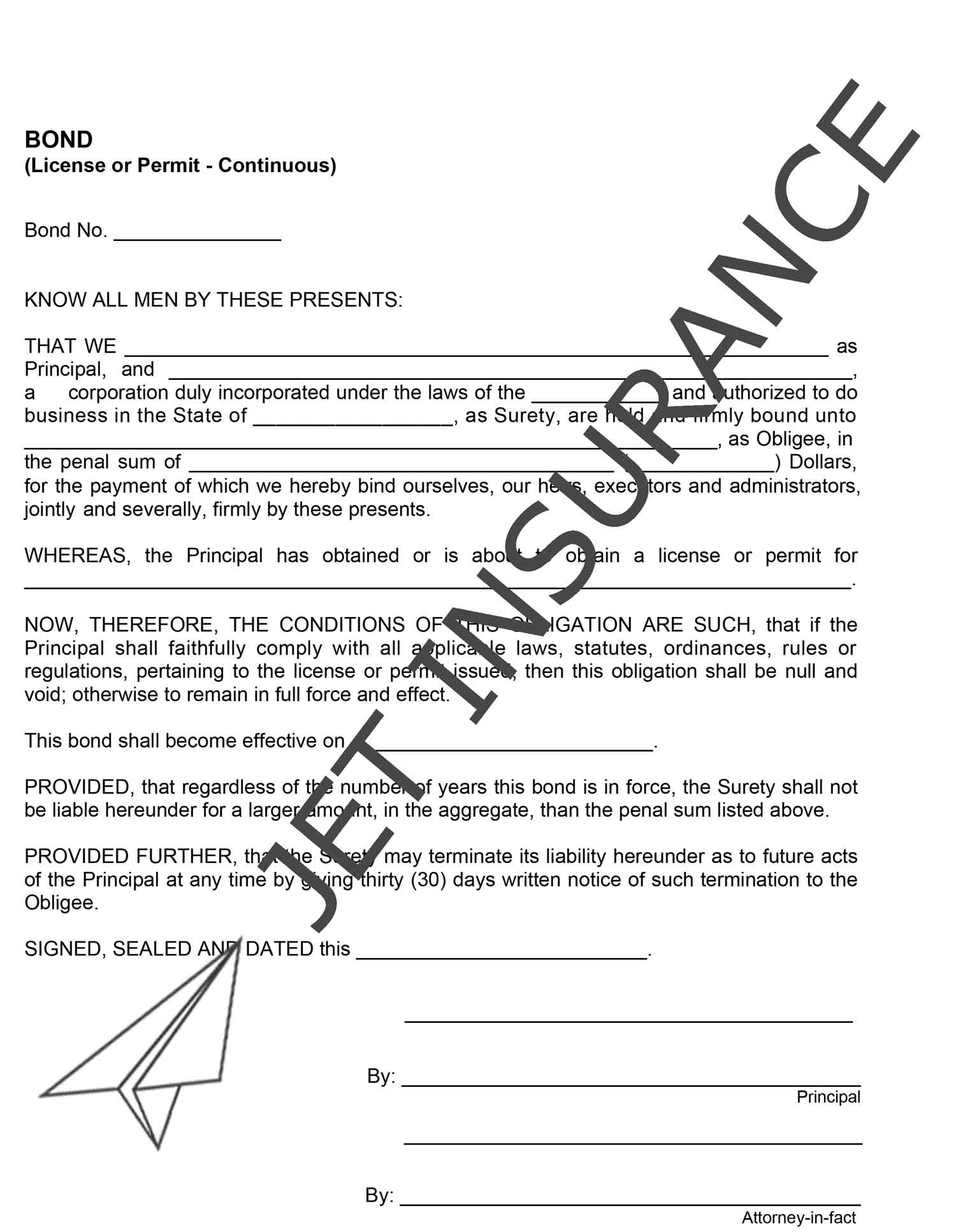 North Carolina Private Personnel Service Bond Form